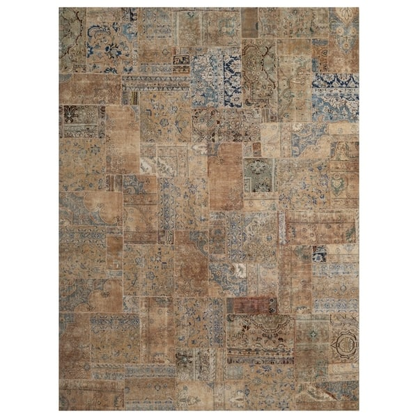 Handmade Herat Oriental Pak Persian Hand Knotted Patchwork Wool Rug 8 10 X 11