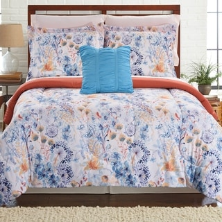 Modern Threads Giverny 8-piece Printed Reversible Complete Bed Set