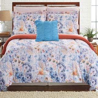 Amrapur Overseas Giverny 8-piece Printed Reversible Complete Bed Set - Multi