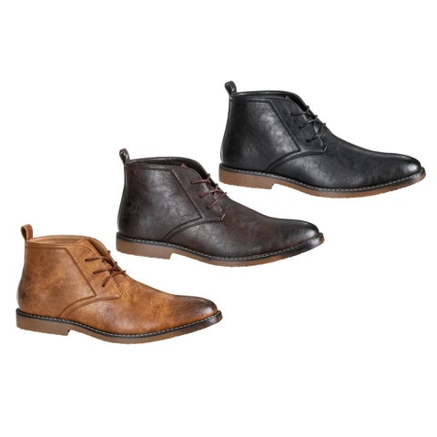 Gino Vitale Men's Lace-Up Chukka Boots