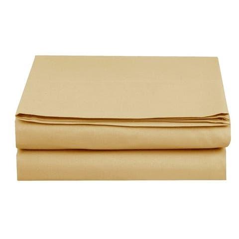 Elegant Comfort Super Soft and Wrinkle-Free Flat Sheet 100% HYPOALLERGENIC