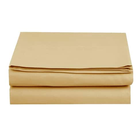 Elegant Comfort Super Soft and Wrinkle-Free Flat Sheet 100% HYPOALLERGENIC