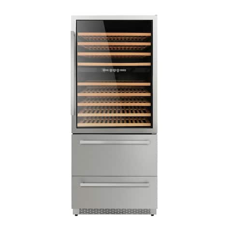 """Thor Kitchen - 30"""" 128-Bottle Wine and 80 Can Beverage Cooler"""
