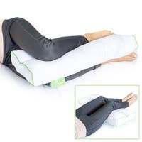 Sleep Yoga Back Side Sleepers, Ergonomically Designed Down Alternative Pillow for Knee Support, Hypoallergenic and Washable