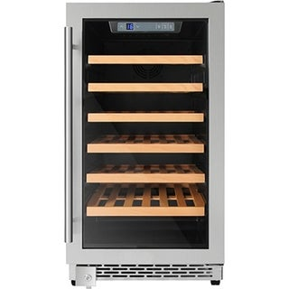 18 in. 40-Bottle Single Zone Built-in/Freestanding Wine Cooler