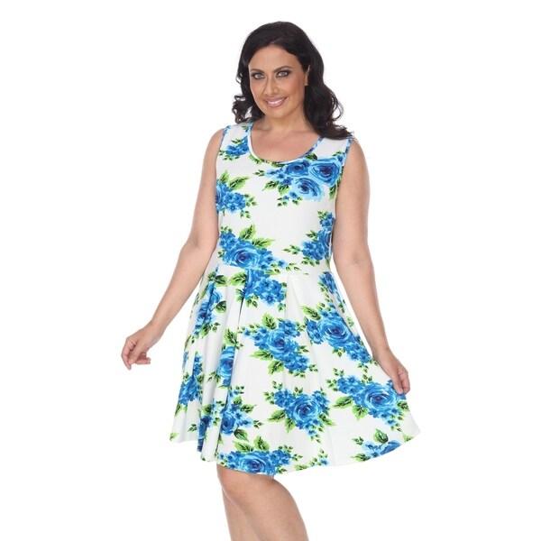 b8452c51133 Shop White Mark Plus Floral Print 'Crystal' Dress - Free Shipping On ...