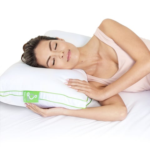 Sleep Yoga Everynight Ergonomically Designed Therapeutic Firm Sleep Pillow, Back Side Sleepers, with Memory Foam Cluster
