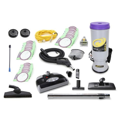 ProTeam Super CoachVac Commercial Backpack vacuum W. Electric Head