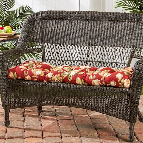 Dunedin 44-inch Outdoor Floral Swing/ Bench Cushion by Havenside Home - 17w x 44l