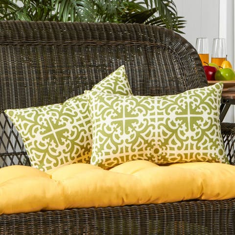 Coopers 19x12-inch Rectangular Outdoor Grass Accent Pillows (Set of 2) by Havenside Home - 12h x 19l