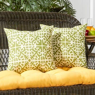Coopers Grass Outdoor 17-inch Accent Pillow (Set of 2) by Havenside Home - 17w x 17l