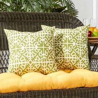 Porch & Den Rosewood Salina Grass Outdoor 17-inch Accent Pillow (Set of 2)
