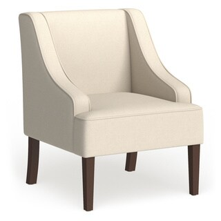 Porch & Den Los Feliz Lyric Cream Swoop Arm Accent Chair
