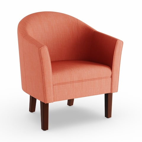Porch & Den Kingswell Textured Orange Barrel Accent Chair
