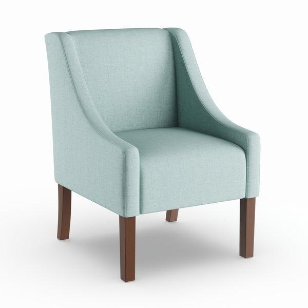 Porch u0026 Den Lyric Aqua Blue Swoop Arm Accent Chair  sc 1 st  Overstock.com & Shop Porch u0026 Den Lyric Aqua Blue Swoop Arm Accent Chair - On Sale ...