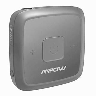 Mpow Mini Bluetooth 4.1 Receiver Portable Mental Bluetooth Car Adapter - Black