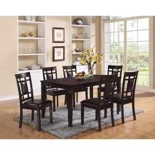 Elegant Dining Set, Espresso Brown, 7 Piece Pack