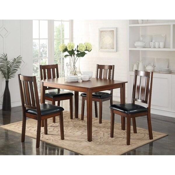 Shop Stylish Wooden Dining Set, Black & Brown, 5 Piece Set