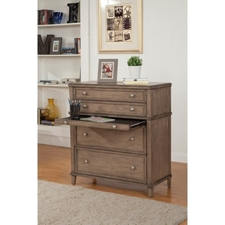4 Drawer Multifunctional Chest with pullout Tray In French Truffle Brown