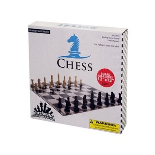 Bulk Buys Folding Chess Game - Pack of 10 - Black/White