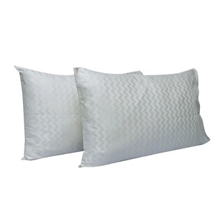 Just Linen 300 Thread Count 100% Egyptian Quality Cotton, Genuine Jacquard Damask , Pack of 4 Queen Pillow Cases