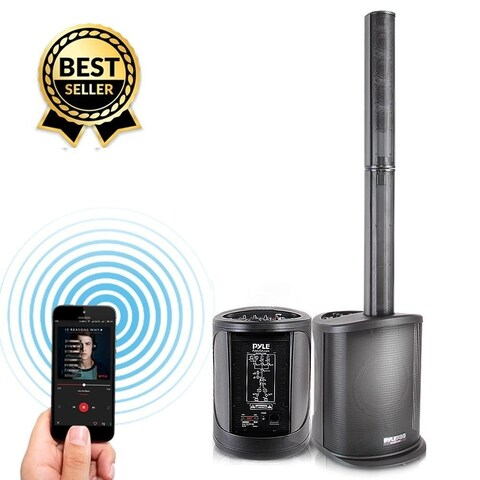 Pro Audio Digital Speaker Tower Amplifier - Surround Sound Bluetooth Speaker, Full Range Stereo (400 Watt)