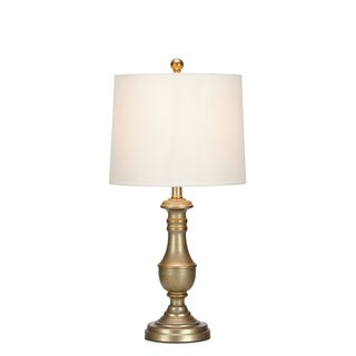 Chic Traditional Side Table Lamp, Gold