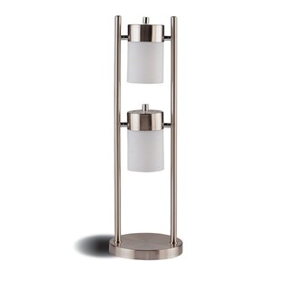 Sheeny And Shinny Metal Table Lamp, Silver