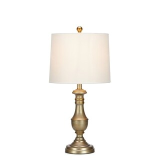 Modish Traditional Side Table Lamp, Gold