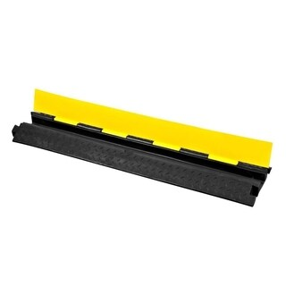 Pyle PCBLCO102 Cable Protector Cover Ramp - Cord/Wire Safety Concealment Track with Flip-Open Access Lid