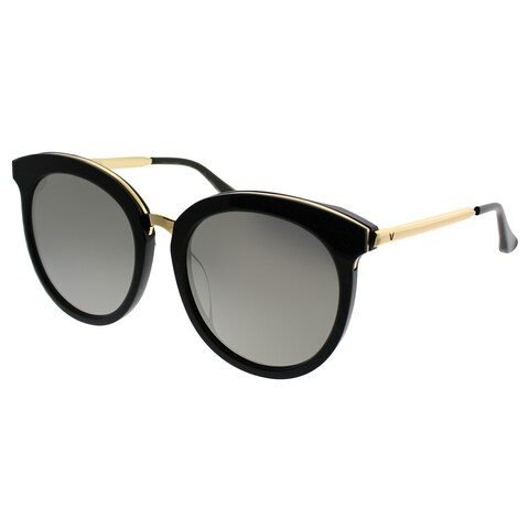Gentle Monster Round LoveSome One 01(2M) Women Black Gold Frame Gold Mirror Lens Sunglasses