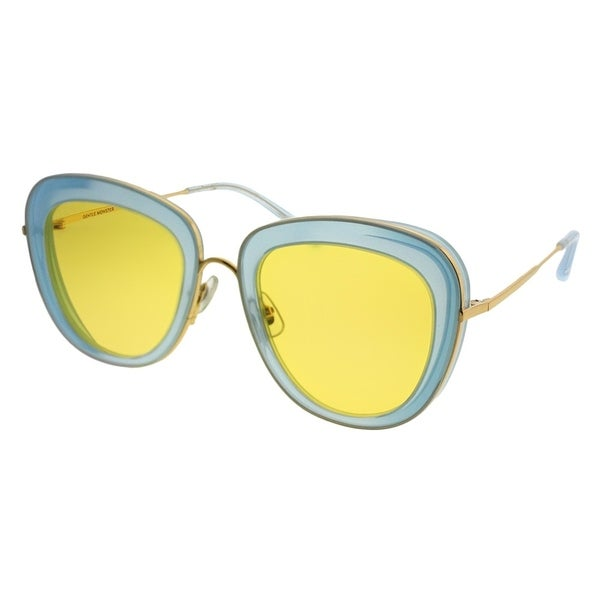 a0e32cb9668df Gentle Monster Cat-Eye Joli Lady MT1 Women Light Blue Gold Frame Yellow Lens  Sunglasses