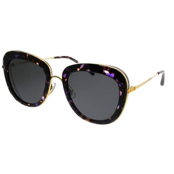 7e0b76717dae0 Gentle Monster Cat-Eye Joli Lady PD1 Women Purple Havana Gold Frame Grey  Lens Sunglasses