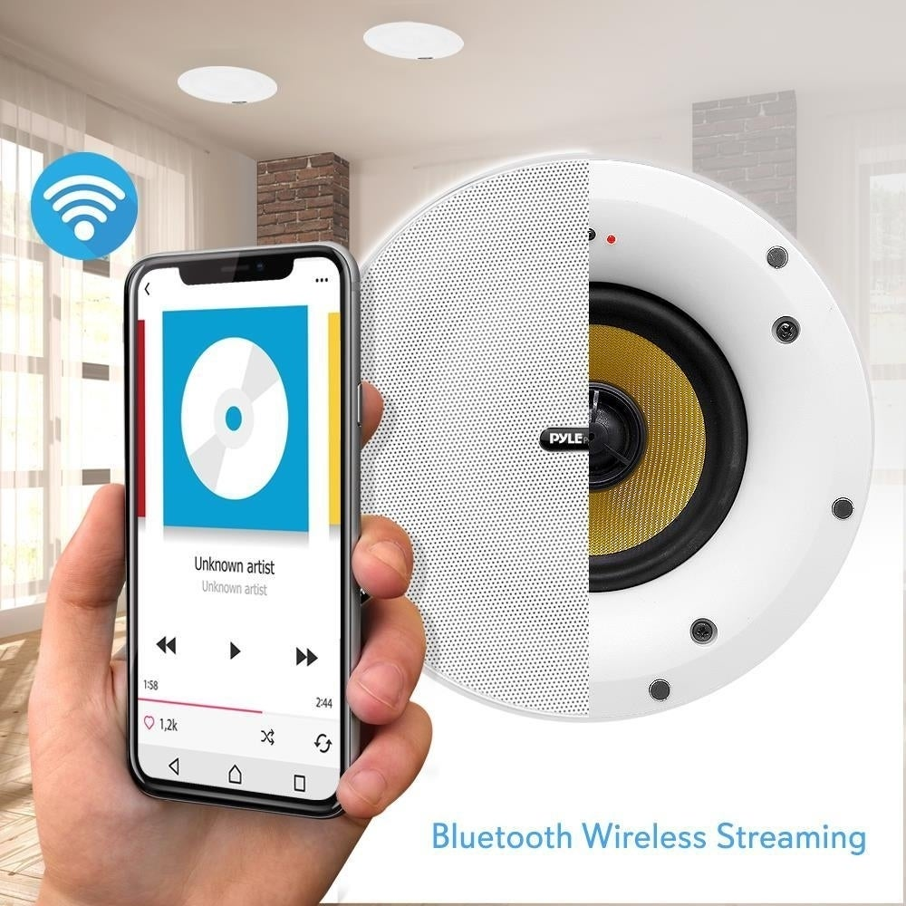 Pyle Pdicwifib82 Home In Wall In Ceiling Speakers With Built In Bluetooth Wifi Wireless Music Streaming 300 Watt