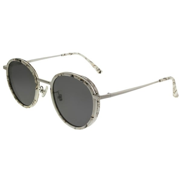 f5184421d1a Gentle Monster Round Future Is Past 3 MB1 Women Ivory Marble Silver Frame  Grey Lens Sunglasses