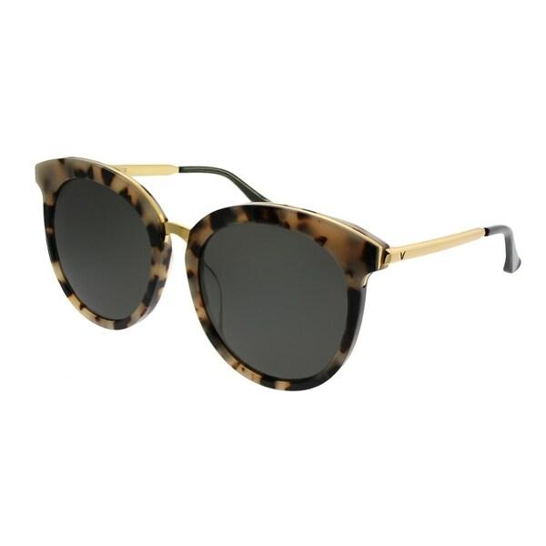 47ded0bb93f Gentle Monster Round LoveSome One S3 Women Beige Havana Gold Frame Grey  Lens Sunglasses