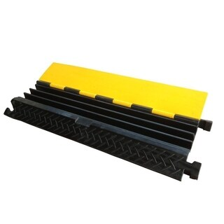 Pyle PCBLCO105 Cable Protector Cover Ramp - Cord/Wire Safety Concealment Track with Flip-Open Access Lid (Three Channel Style)