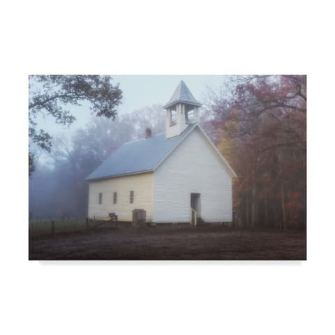 Galloimages Online 'Primitive Baptist Church Fog' Canvas Art - Multi-color