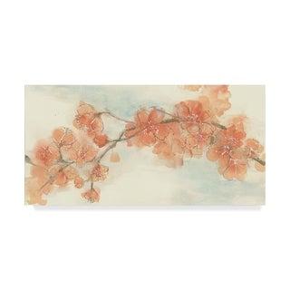 Chris Paschke 'Peach Blossom Ii' Canvas Art - Multi-color