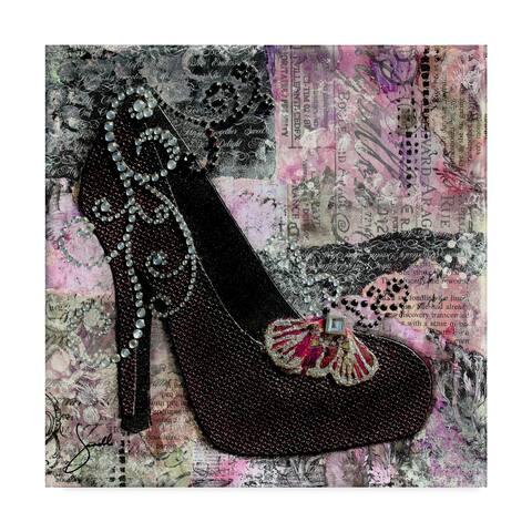 Janelle Nichol 'Pretty In Purple Black Heels' Canvas Art - Multi-color