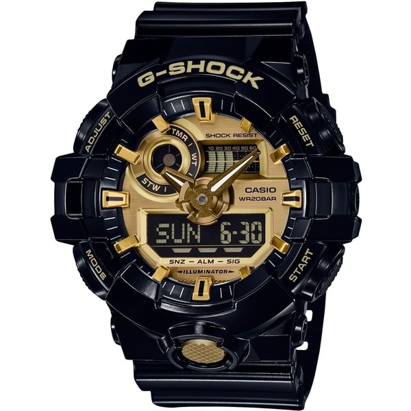 d95a8fcca Shop Casio G-Shock Analog-Digital Men's Sports Watch (Black/Gold) - Free  Shipping Today - Overstock - 21814419