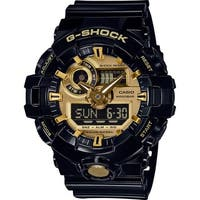 Casio G-Shock Analog-Digital Men's Sports Watch (Black/Gold)