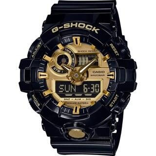 Casio G-Shock Analog-Digital Men's Sports Watch (Black/Gold)