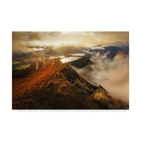 Yan Zhang 'Roys Peak Mountain' Canvas Art - Multi-color
