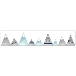 Sweet Jojo Designs Grey and Aqua Mountains Collection Wallpaper Wall Border
