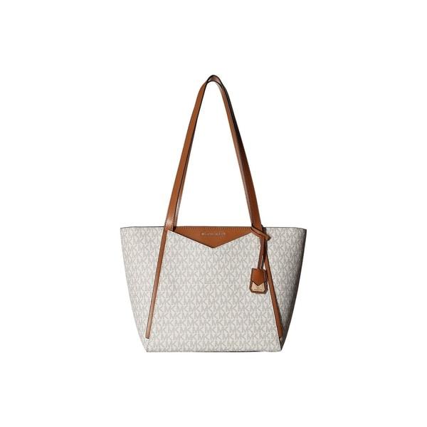 cf6d808988da95 Shop Michael Kors Whitney Signature Small Top Zip Vanilla Tote - On ...