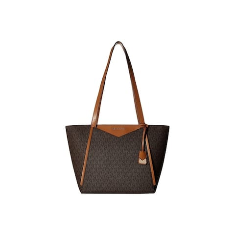 Michael Kors Whitney Signature Small Top Zip Brown Tote