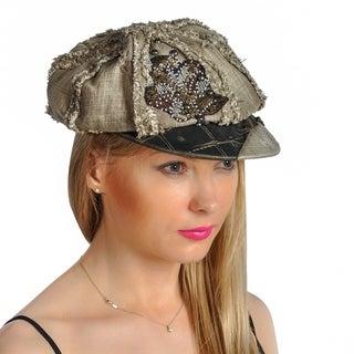 Dream Control Distressed Rhinestoned Sequins Bucket Irish Style Hats Olive