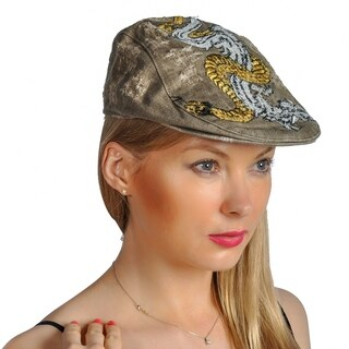 Dream Control Distressed Embroidered Flat Style Hats Olive