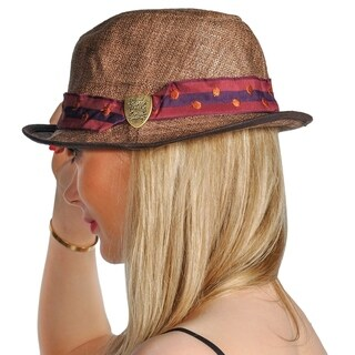 Dream Control Woven Stingy Beam Style Hats Brown Red